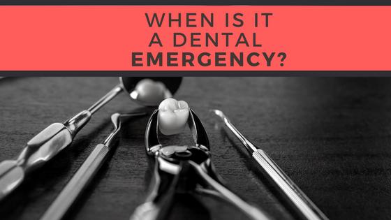 When is it a DentalEmergency?